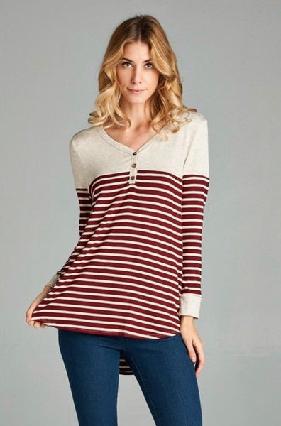 Gretchen Colorblock Henley