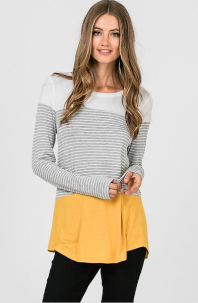 Daphne Colorblock Top