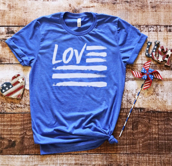 LOVE flag Tee ADULT SIZE