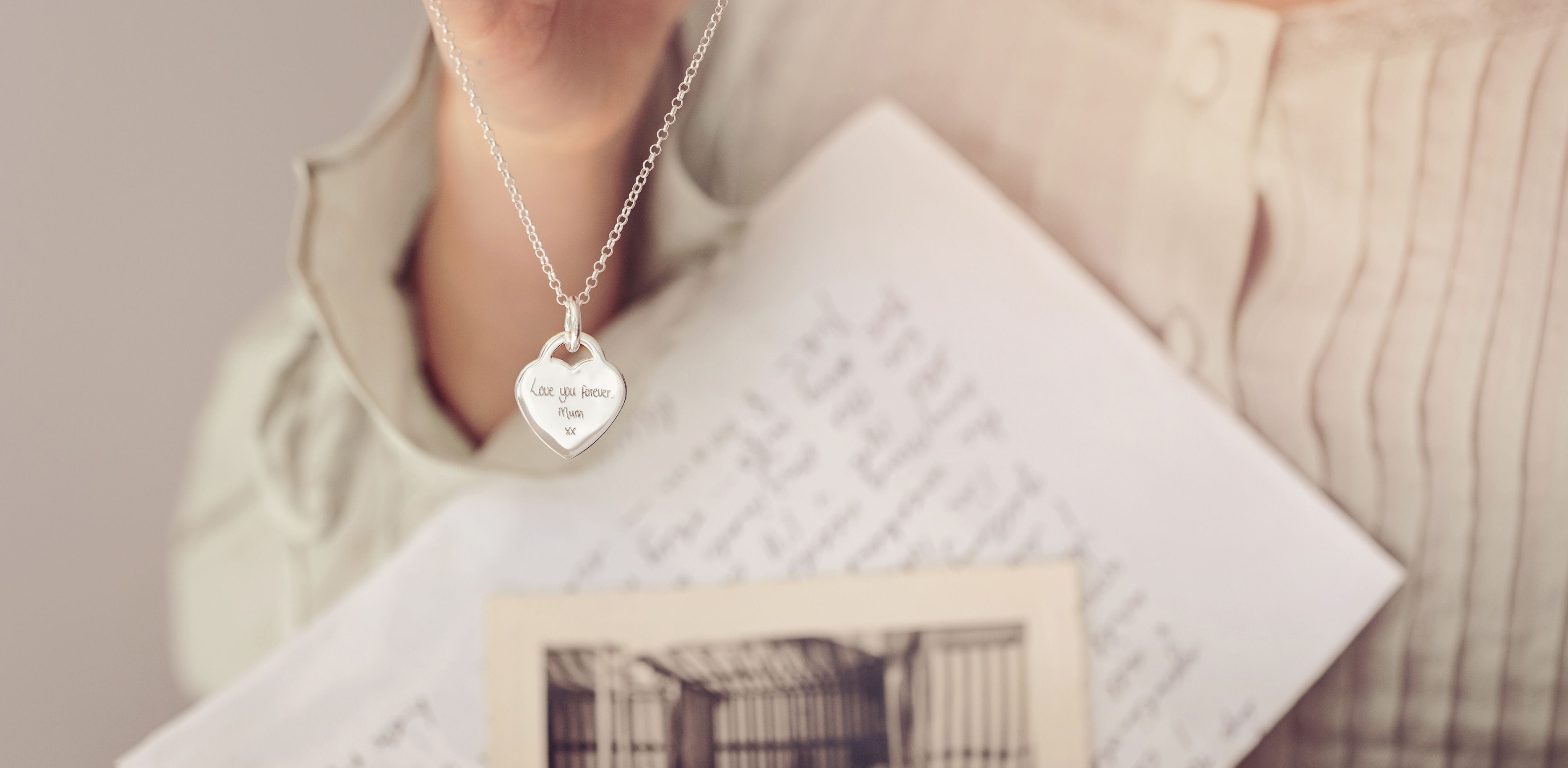 Wedding Necklace with Handwriting