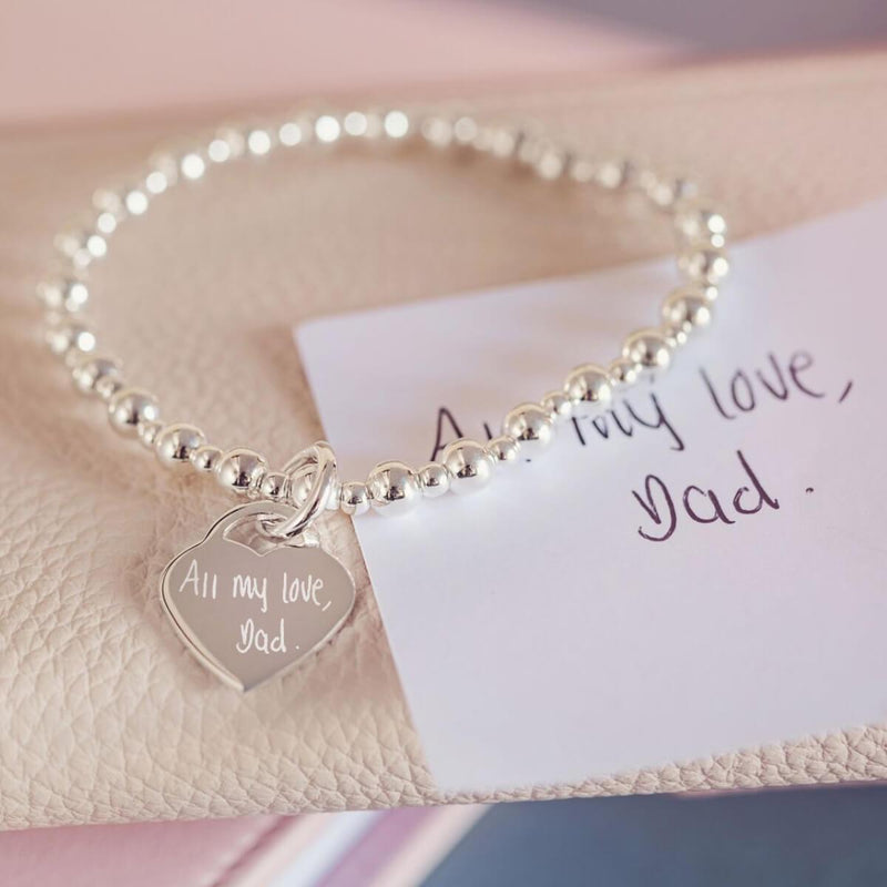 Handwriting Silver Bracelet