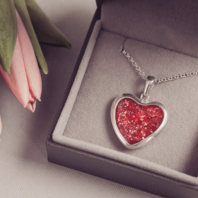 Cremation Ashes Heart Necklace