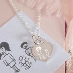 Drawing Heart Necklace