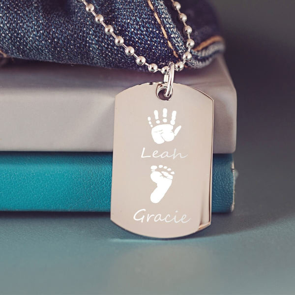 Handprint Dog Tag