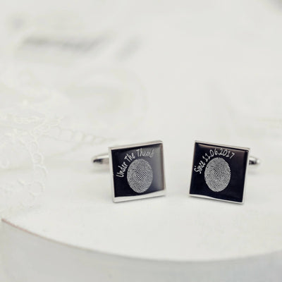 Under The Thumb Fingerprint Cufflinks