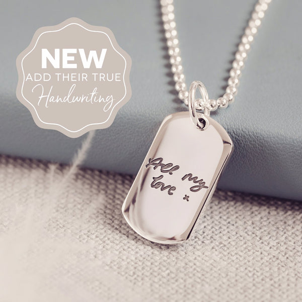Fingerprint Dog Tag Necklace, One Print
