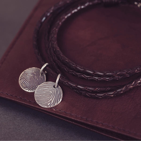 Fingerprint Leather Bracelet