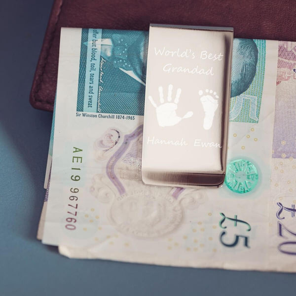 Handprint Money Clip