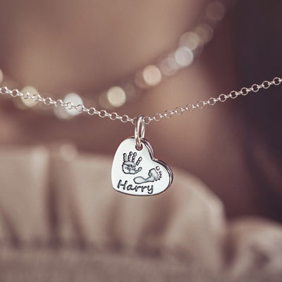 handprint footprint necklace