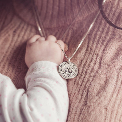 Handprint Medallion Necklace