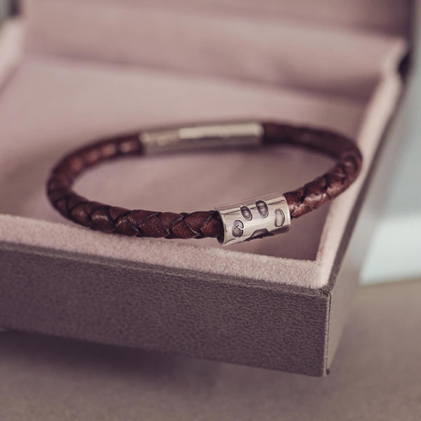 Pawprint Leather Bracelet