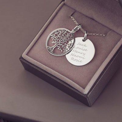 Personalised Family Tree Necklace Necklace