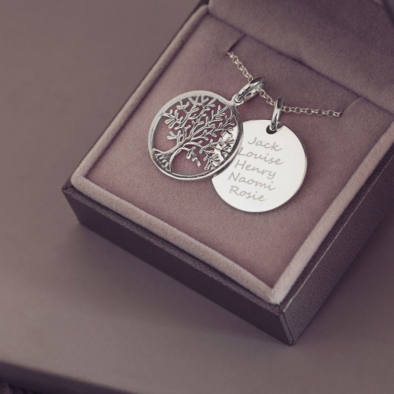 Personalised Family Tree Necklace Necklace Handonheartjewellery