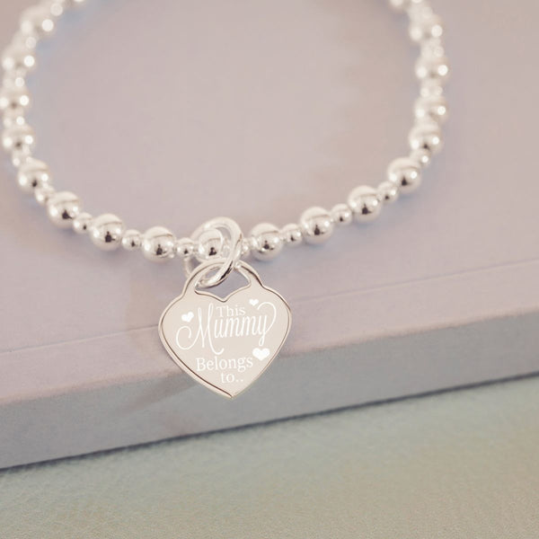 Personalised This Mummy Belongs To Silver Bracelet