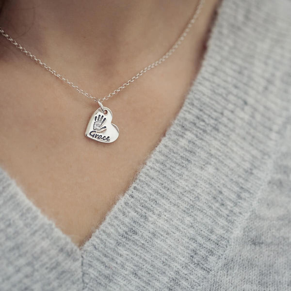 Handprint Charm Necklace