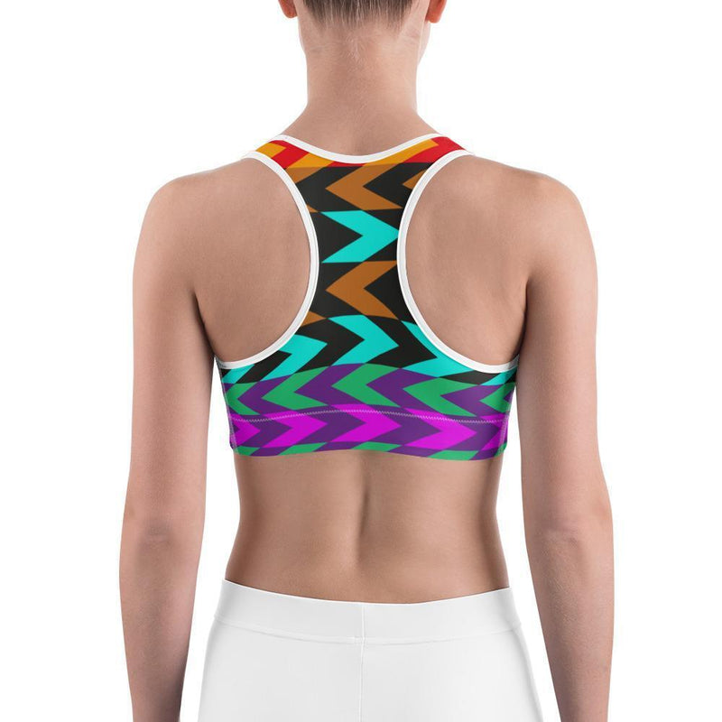 Curvy Bottom Colored Arrows Sports bra