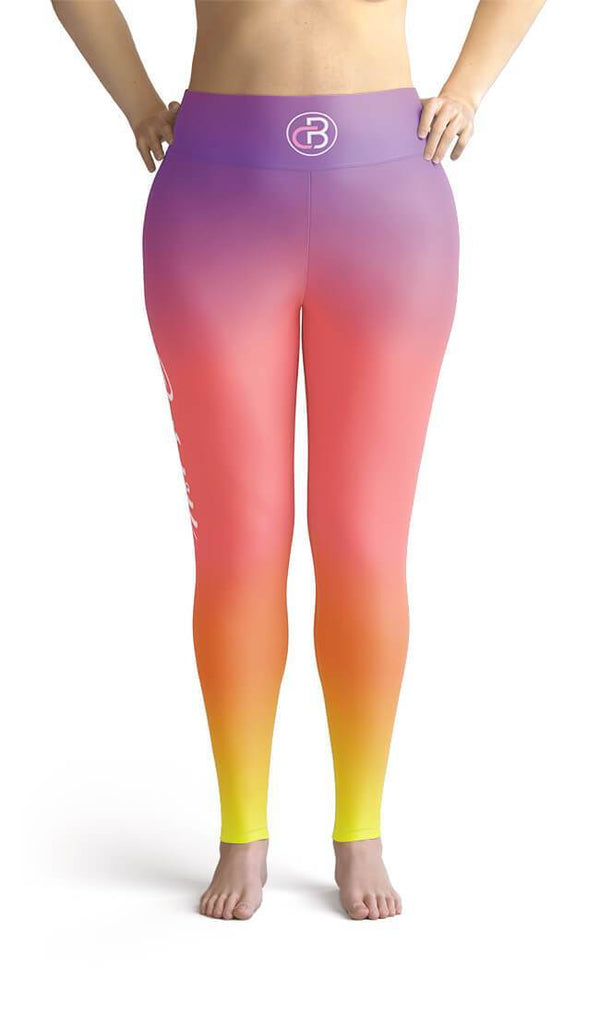 Curvy Bottom Curvy Sunset Plus Size Leggings