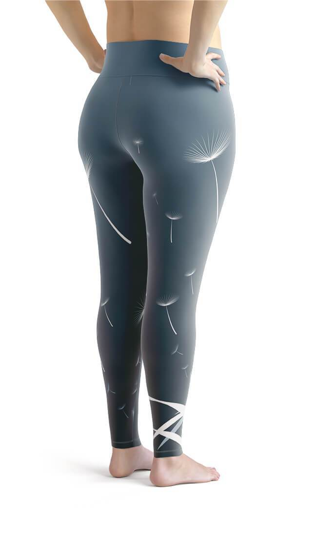 Curvy Bottom Dandelions Plus Size Leggings
