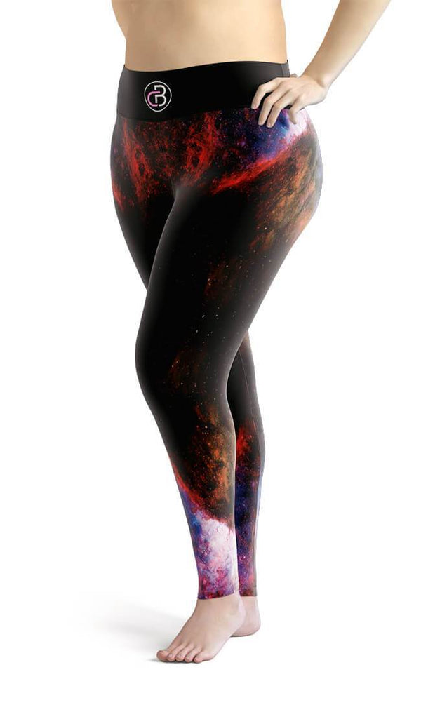 Curvy Bottom Galaxy X Plus Size Leggings