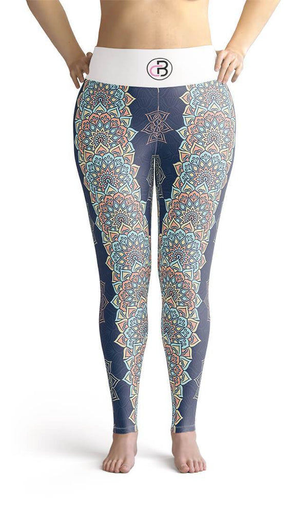Curvy Bottom Mandala Wonder Plus Size Leggings