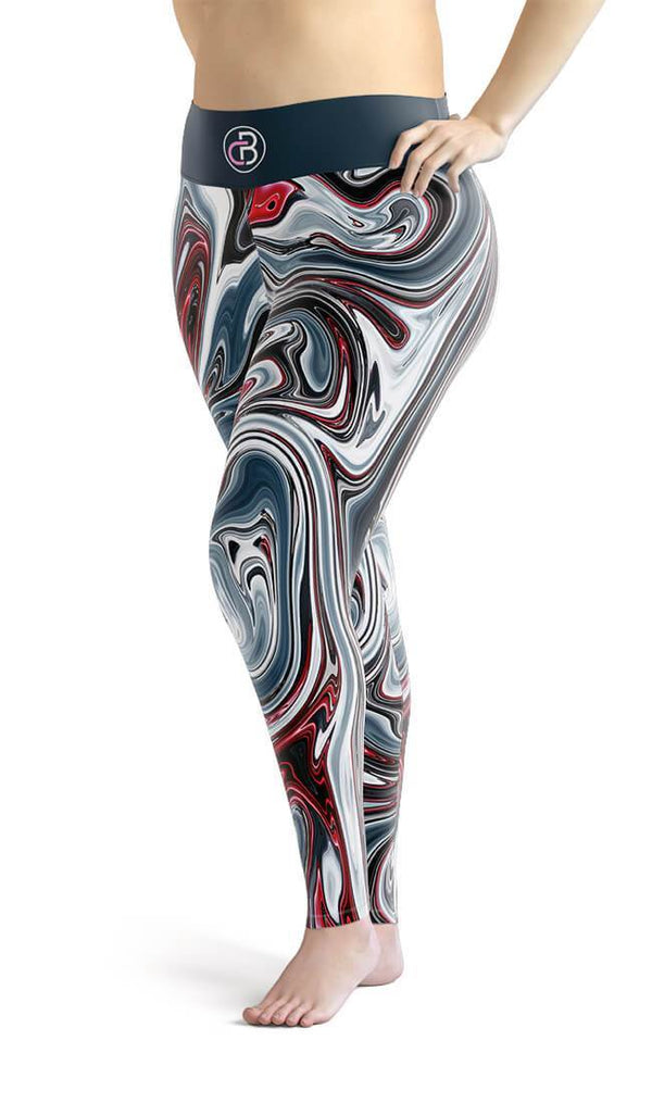 Curvy Bottom Marvel Marble Plus Size Leggings