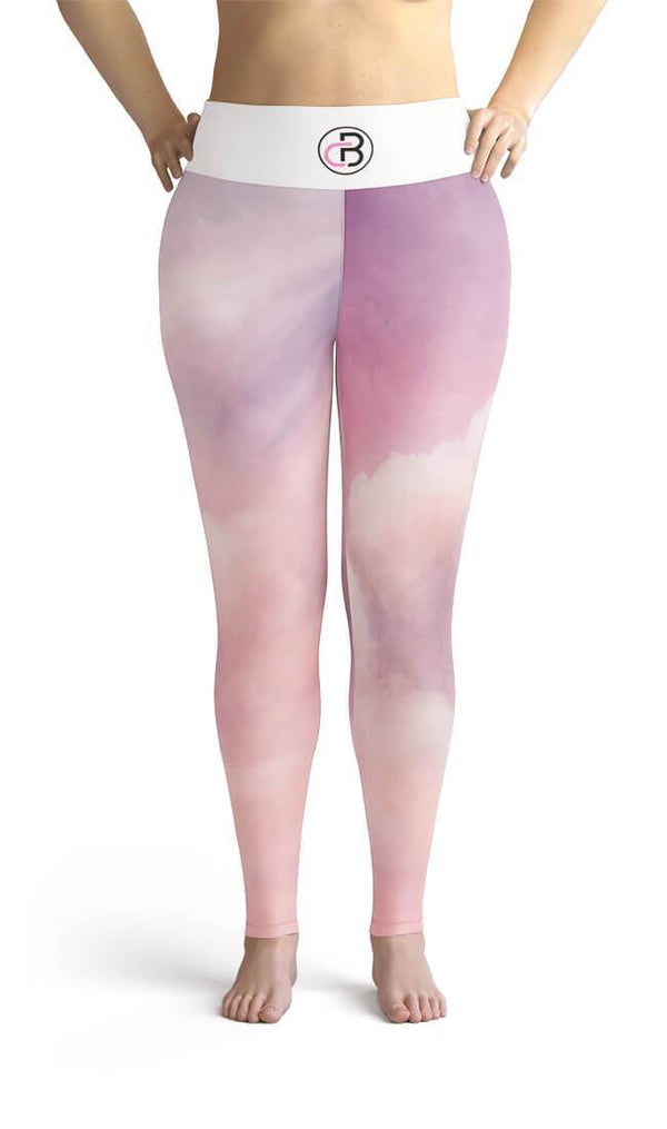 Curvy Bottom Pink Cloud Plus Size Leggings