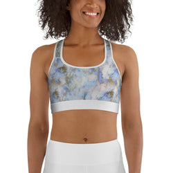 Curvy Bottom Sky Dream Marble Sports bra