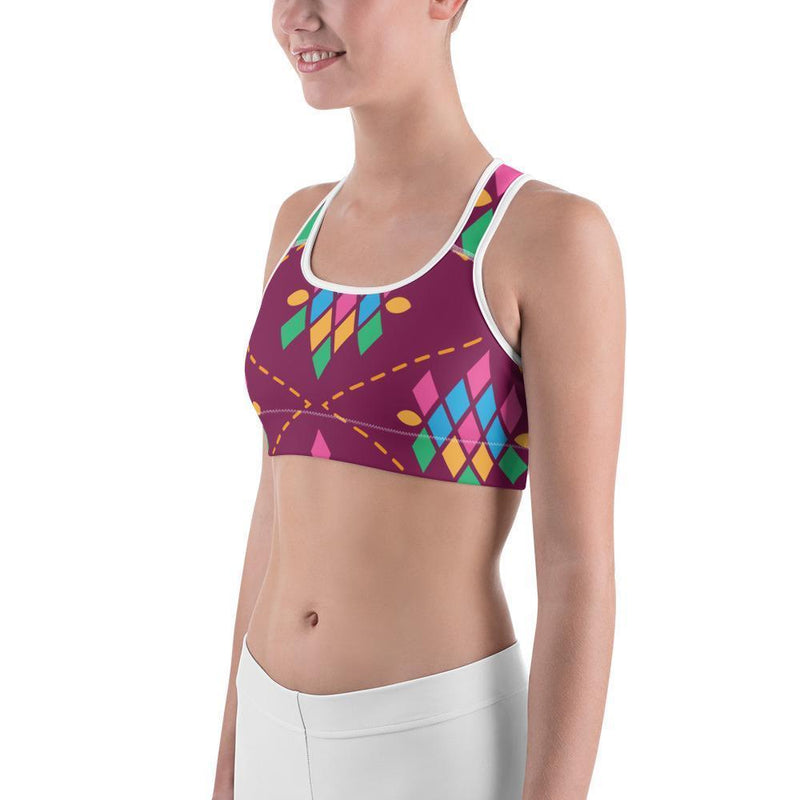 Curvy Bottom Songket Sports bra