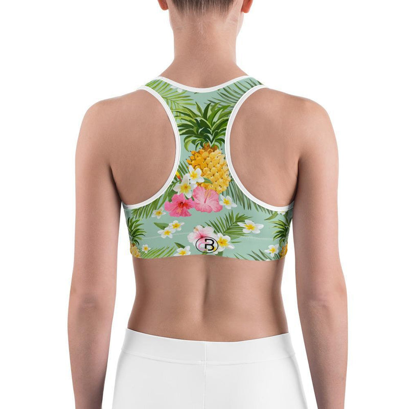 Curvy Bottom Summer Pineapple Sports bra