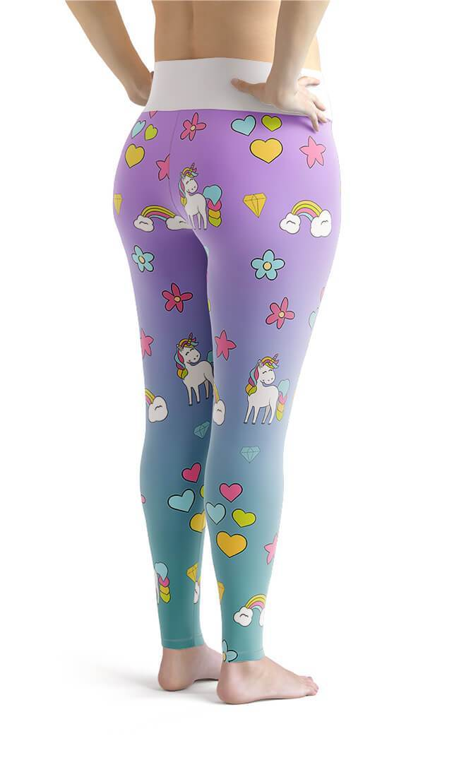 Curvy Bottom Unicorn Magic Plus Size Leggings
