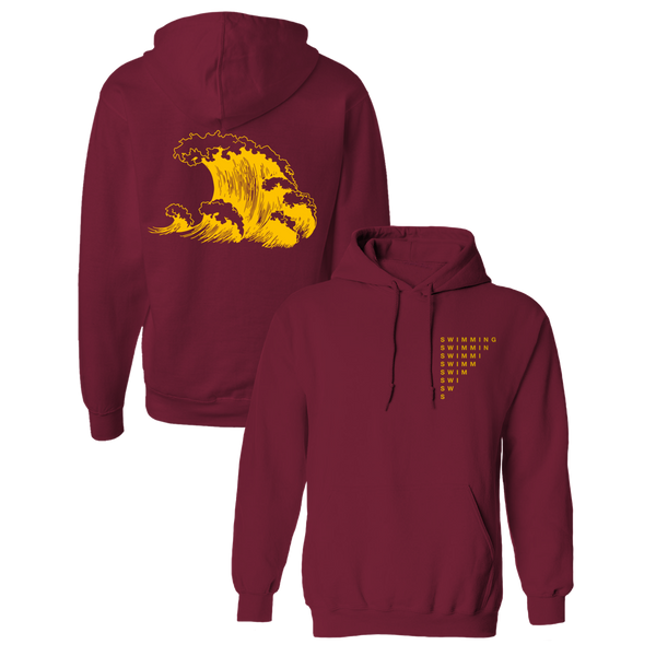 SWIMMING WAVE HOODIE - BURGUNDY - Mac Miller