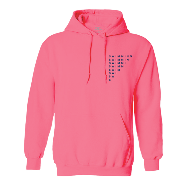 SWIMMING WAVE HOODIE - CORAL - Mac Miller