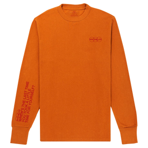 TAKE A LITTLE TIME ORANGE LONG SLEEVE - Mac Miller