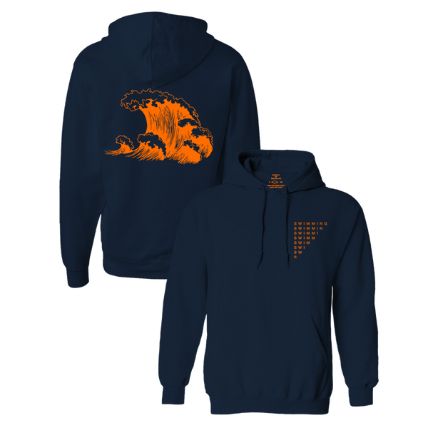 SWIMMING WAVE HOODIE - NAVY - Mac Miller