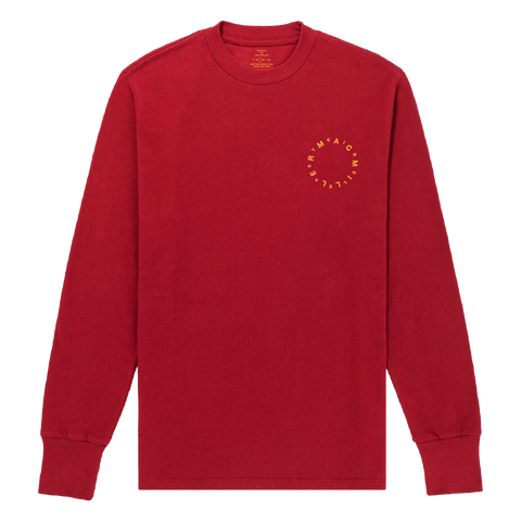 CIRCLES RED LONG SLEEVE - Mac Miller