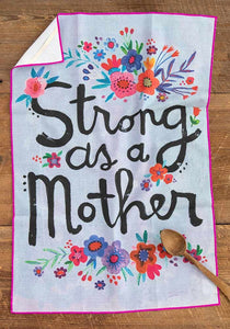 Cotton Dish Towel Strong Mother