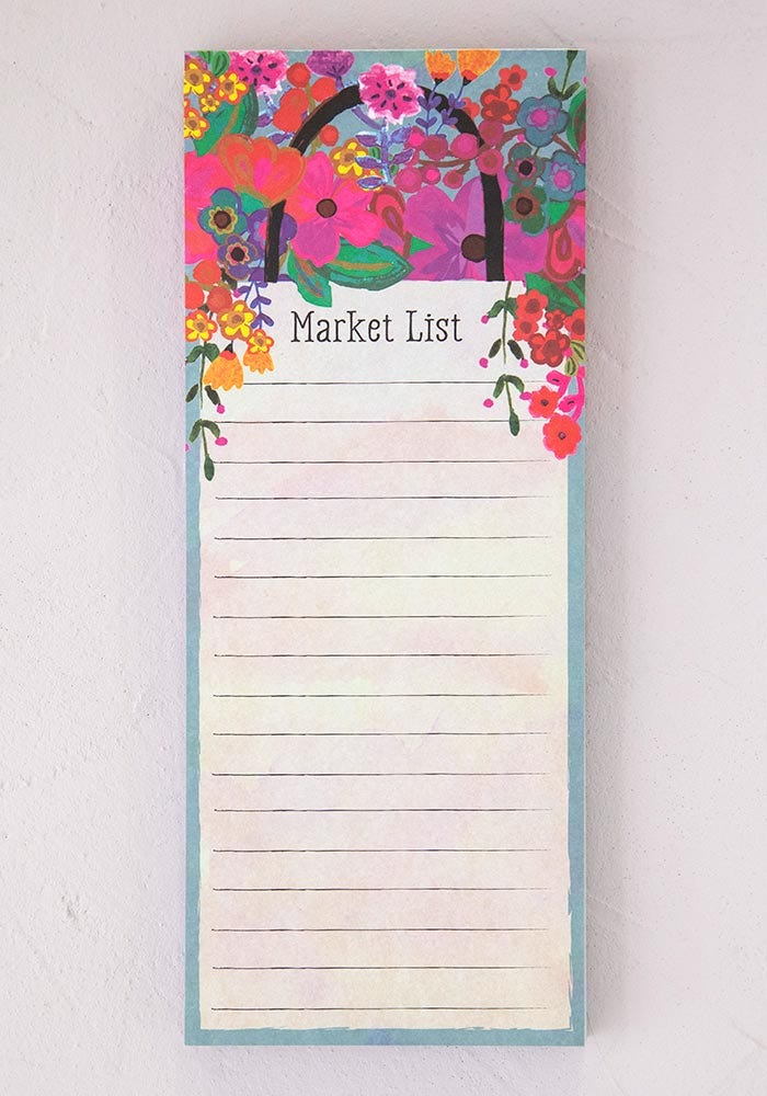 List Notepad Market List
