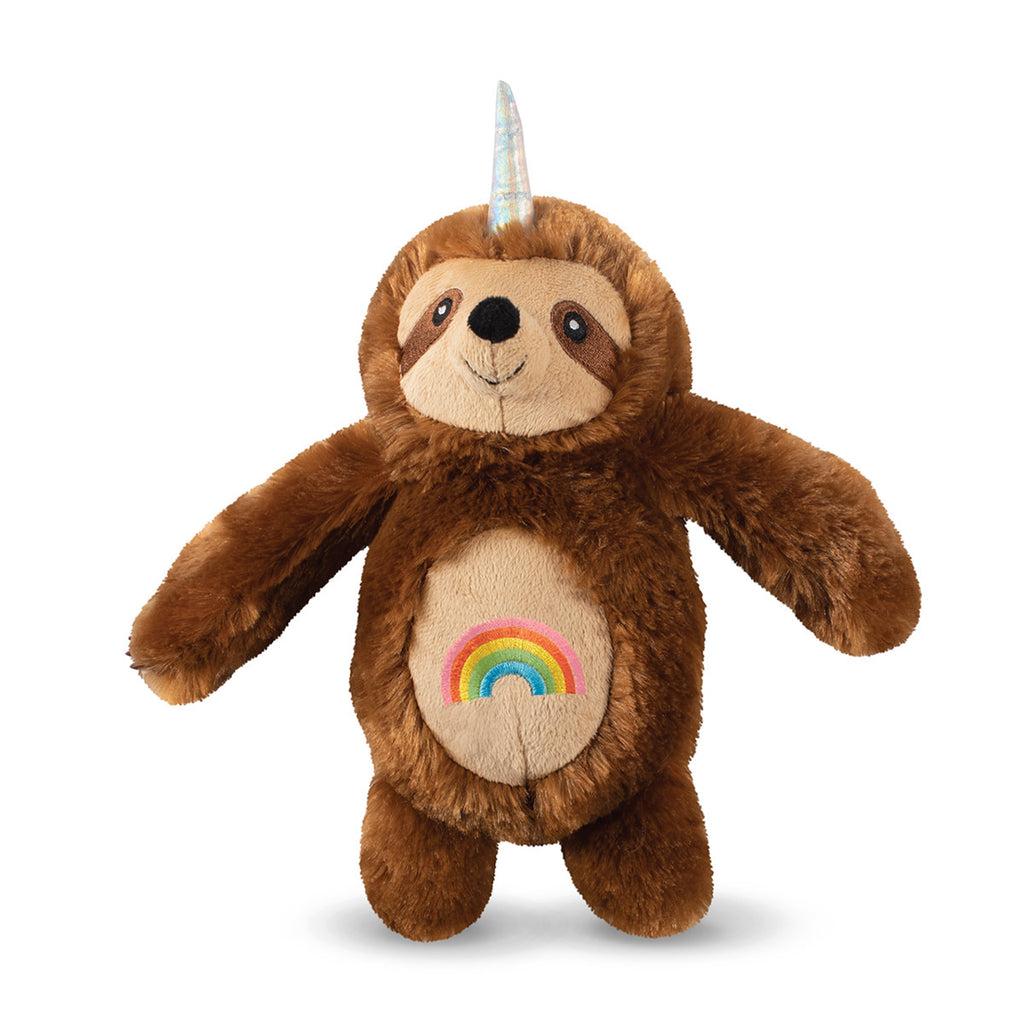 Fringe Studio Rainbow Slothicorn Plush Dog Toy