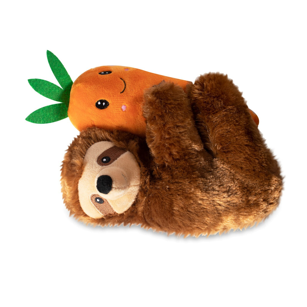 Fringe Studio Easter Sloth on a Carrot Plush Squeaker Dog Toy