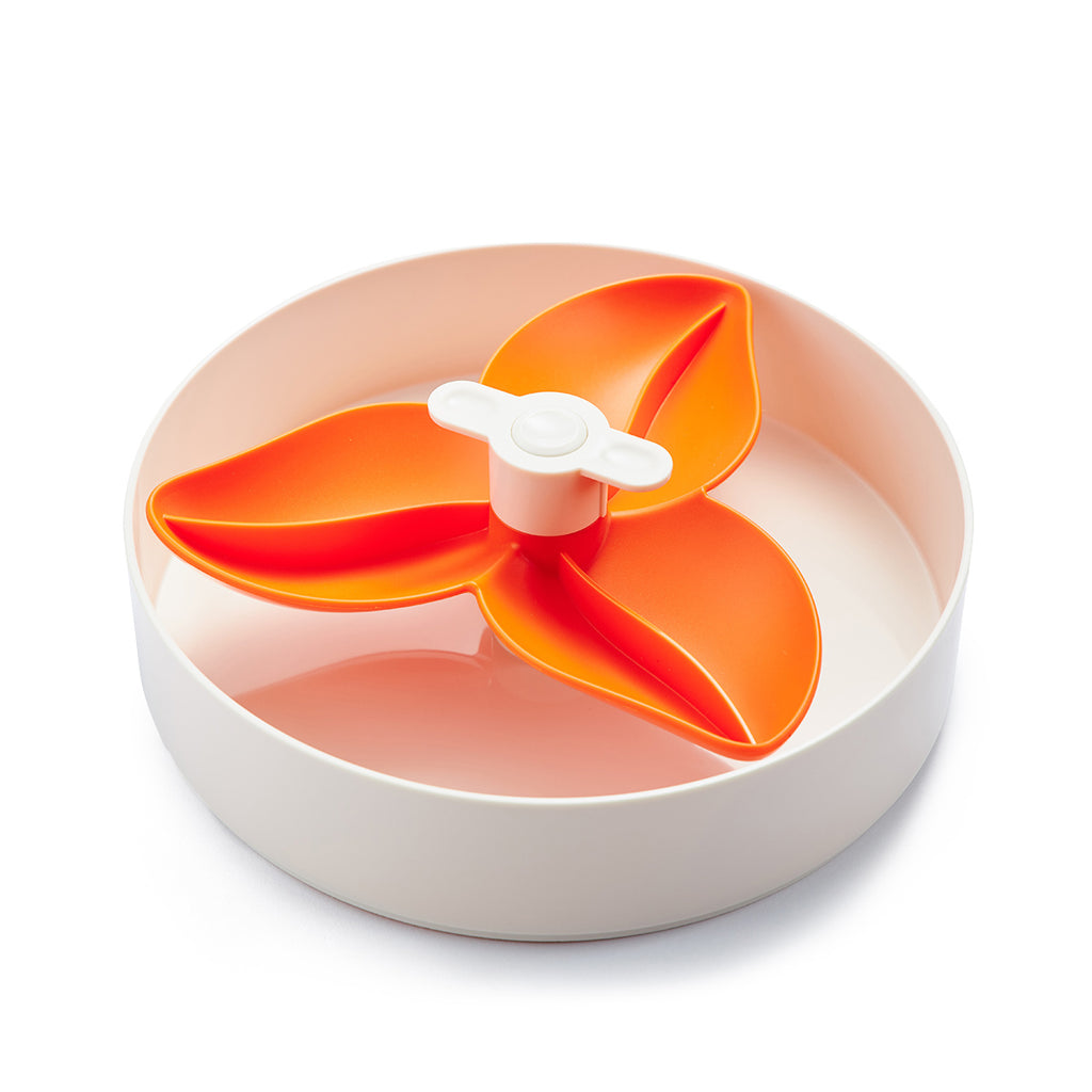 SPIN Interactive Adjustable Slow Feeder Bowl for Cats and Dogs - Flower