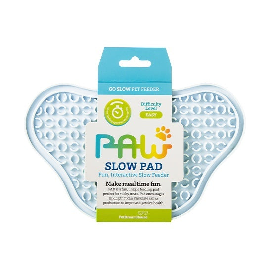 PAW Lick Pad Slow Feeder & Anti-Anxiety Food Mat for Cats & Dogs - Baby Blue