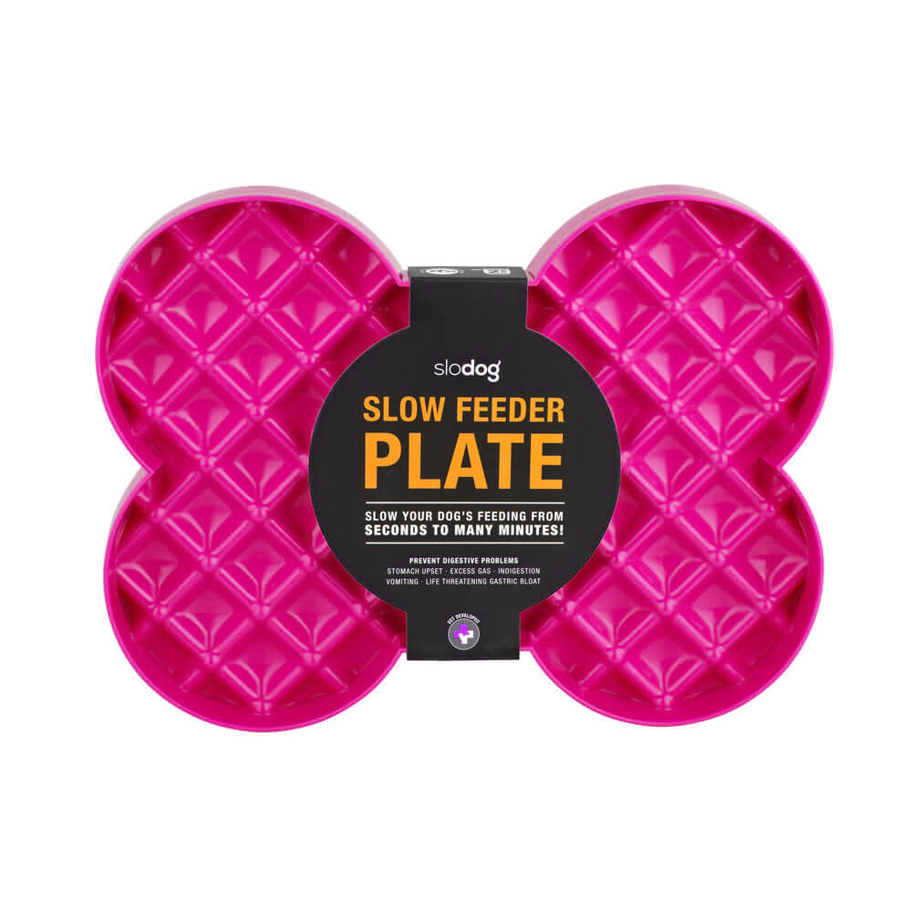 SloDog Slow Food Plate - Pink