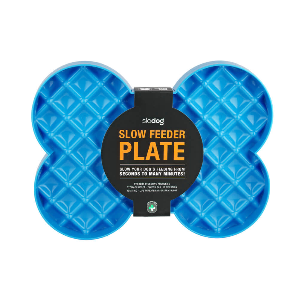 SloDog Slow Food Plate - Blue