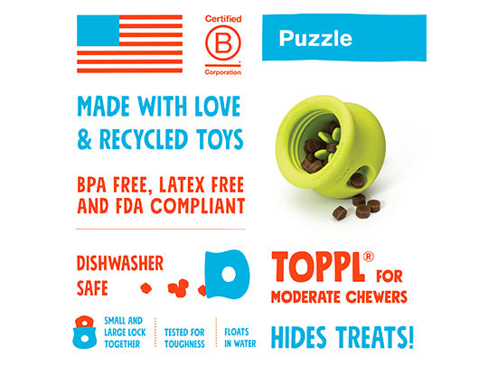 West Paw Toppl Treat Dispensing Dog Toy