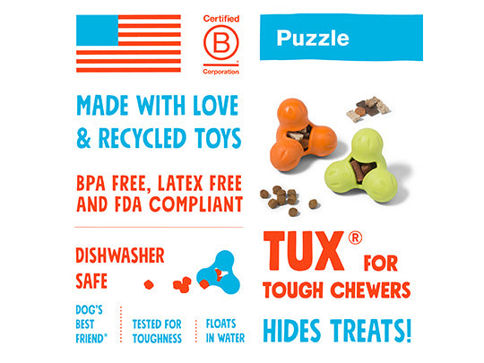 West Paw Tux Treat Dispenser for Tough Dogs