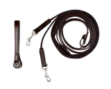 Leather Draw Reins with Rope - 8006-RP