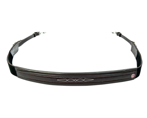 Leather Breast Collar with Elastic - 8111