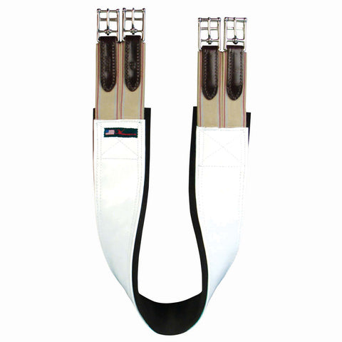 White Patent Girth w/ Neoprene - 8340-P