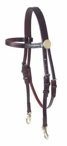 Leather Training Headstall - 8080