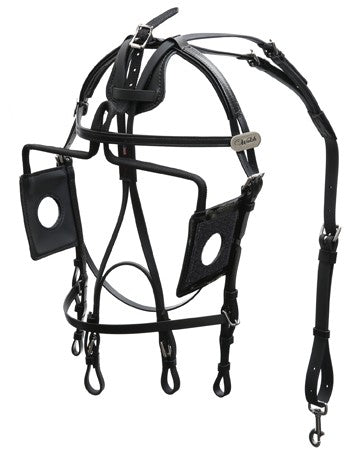 Open Eye Blind Bridle - US Style - 1305-PCN-OE